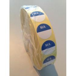 HACCP sticker, maandag