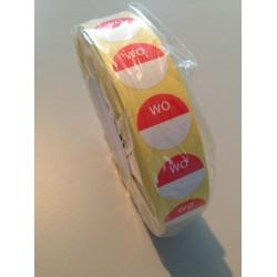HACCP sticker, woensdag