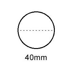 Sluitzegel 30mm permanent met perfo