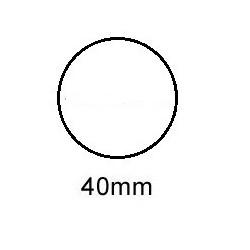 Sluitzegel 40mm permanent met perfo