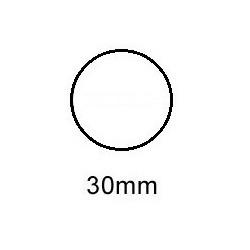Sluitzegel permanent met perfo 30mm