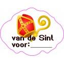 Etiket Sinterklaas wit, wolkje