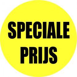 Ronde gele actie sticker speciale prijs