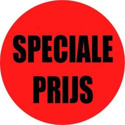 Rode actie sticker speciale prijs