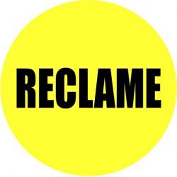 Gele actie sticker reclame