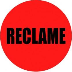 Rode actie sticker reclame