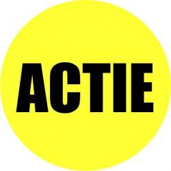 Gele actie sticker actie