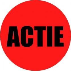 Rode actie sticker actie