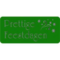 Etiket Feestdagen, groen rechthoekig