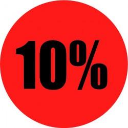 Rode actie sticker 10%