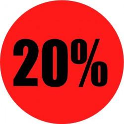Rode actie sticker 20%