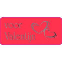 Etiket Valentijn, rechthoekig