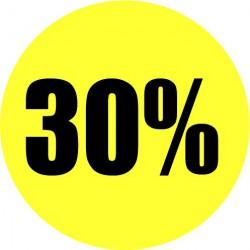 Gele actie sticker 30%
