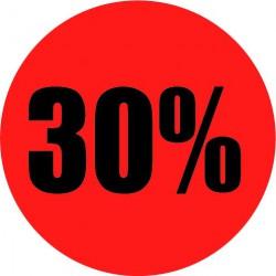 Rode actie sticker 30%