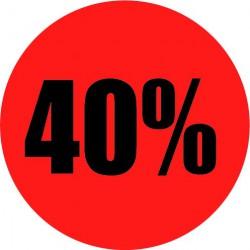 Rode actie sticker 40%