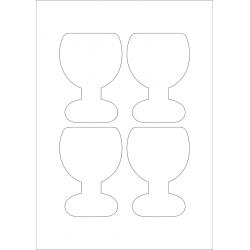 75mm glas / 4 per vel